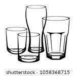 glasses for drinks | Shutterstock .eps vector #1058368715
