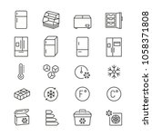 fridge related icons  thin...   Shutterstock .eps vector #1058371808
