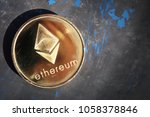 Small photo of Ethereum ETH Coin Blockchain Cryptocurrency.Business and Trading concept. Close-up shot