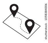 pin map navigation locator... | Shutterstock .eps vector #1058384006