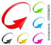 colorful arrows. illustration...   Shutterstock .eps vector #105838835