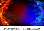 abstract red and blue fire | Shutterstock .eps vector #1058388605