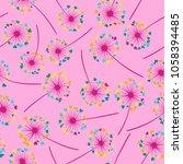 dandelion isolated vector... | Shutterstock .eps vector #1058394485