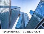 up view of modern office... | Shutterstock . vector #1058397275