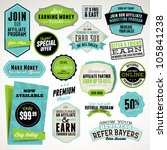 Stock vector set of affiliate and referral badges and stickers 105841238