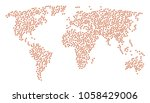 geographic collage map composed ...   Shutterstock .eps vector #1058429006