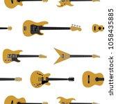 various vector guitars pattern   Shutterstock .eps vector #1058435885