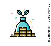 income and revenue increase ... | Shutterstock .eps vector #1058440436