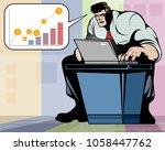vector illustration of a man... | Shutterstock .eps vector #1058447762