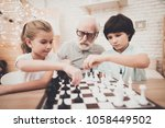 grandfather  grandson and...   Shutterstock . vector #1058449502