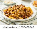 homemade italian ragu sauce and ... | Shutterstock . vector #1058463062
