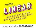 trendy display font popart... | Shutterstock .eps vector #1058474405