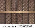art deco patterns set. seamless ... | Shutterstock .eps vector #1058476142