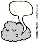 cartoon cloud character | Shutterstock . vector #105848312