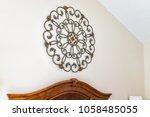 closeup of new bed headboard... | Shutterstock . vector #1058485055