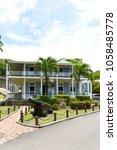 former naval officer's house ... | Shutterstock . vector #1058485778