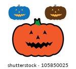 vector halloween pumpkin | Shutterstock .eps vector #105850025