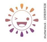 kawaii sun icon   Shutterstock .eps vector #1058509328