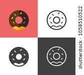 donut icons 2018 | Shutterstock .eps vector #1058510522