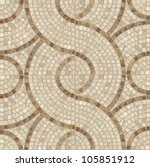 brown marble stone mosaic... | Shutterstock . vector #105851912