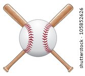 baseball with bats is an... | Shutterstock .eps vector #105852626