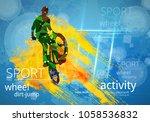 bicycle jumper during danger...   Shutterstock .eps vector #1058536832