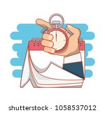 work time elements icons | Shutterstock .eps vector #1058537012