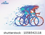 cycling race stylized... | Shutterstock .eps vector #1058542118