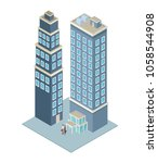 company tower building | Shutterstock .eps vector #1058544908