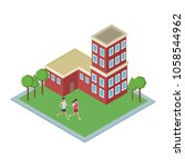 isometric building use with...   Shutterstock .eps vector #1058544962