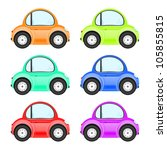 collection of colored cars | Shutterstock .eps vector #105855815