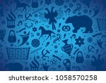 russian pattern wallpaper... | Shutterstock .eps vector #1058570258