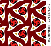 seamless tribal pattern with... | Shutterstock .eps vector #1058576042