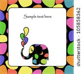 fun colorful elephant | Shutterstock .eps vector #105858362
