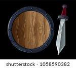 game design icon for viking or... | Shutterstock .eps vector #1058590382
