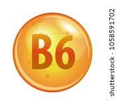 vitamin b6 capsule. vector icon ... | Shutterstock .eps vector #1058591702