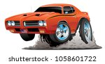 classic american muscle car... | Shutterstock .eps vector #1058601722