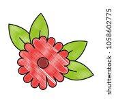 beautiful flower decorative icon | Shutterstock .eps vector #1058602775