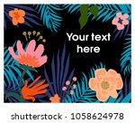 floral background.vector... | Shutterstock .eps vector #1058624978