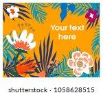 floral background. vector... | Shutterstock .eps vector #1058628515