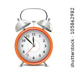 orange alarm clock | Shutterstock .eps vector #105862982