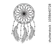 dream catcher graphic in black... | Shutterstock .eps vector #1058640728