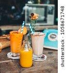 jamu healthy yellow drink   Shutterstock . vector #1058671748