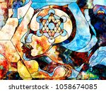 stained glass forever series.... | Shutterstock . vector #1058674085