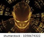 radiating mind series. 3d... | Shutterstock . vector #1058674322