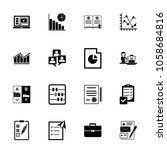 management icon set. can be... | Shutterstock .eps vector #1058684816