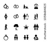 human relationship icon set.... | Shutterstock .eps vector #1058684825