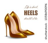 womens high heel shoes ...   Shutterstock .eps vector #1058690096