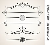 calligraphic design elements.... | Shutterstock .eps vector #105869036