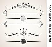 calligraphic design elements.... | Shutterstock .eps vector #105869036